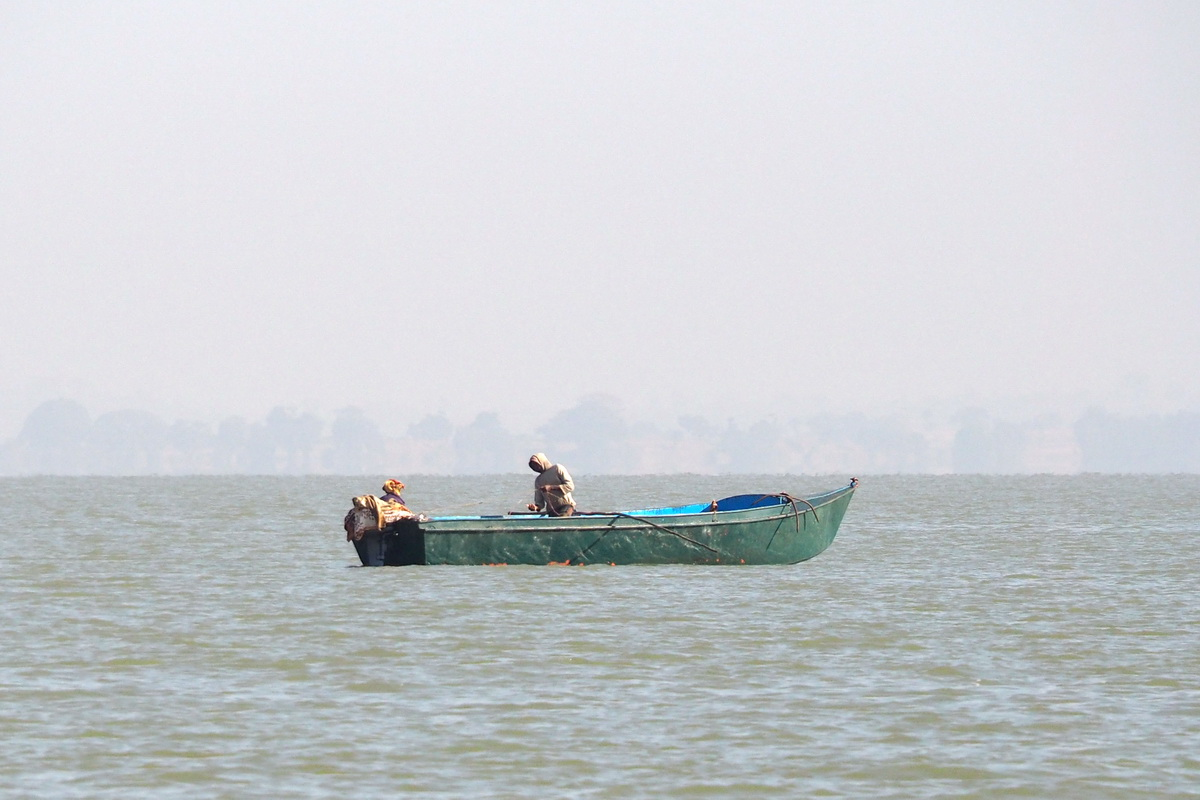 Bateau de pêche en tôle du lac Tana