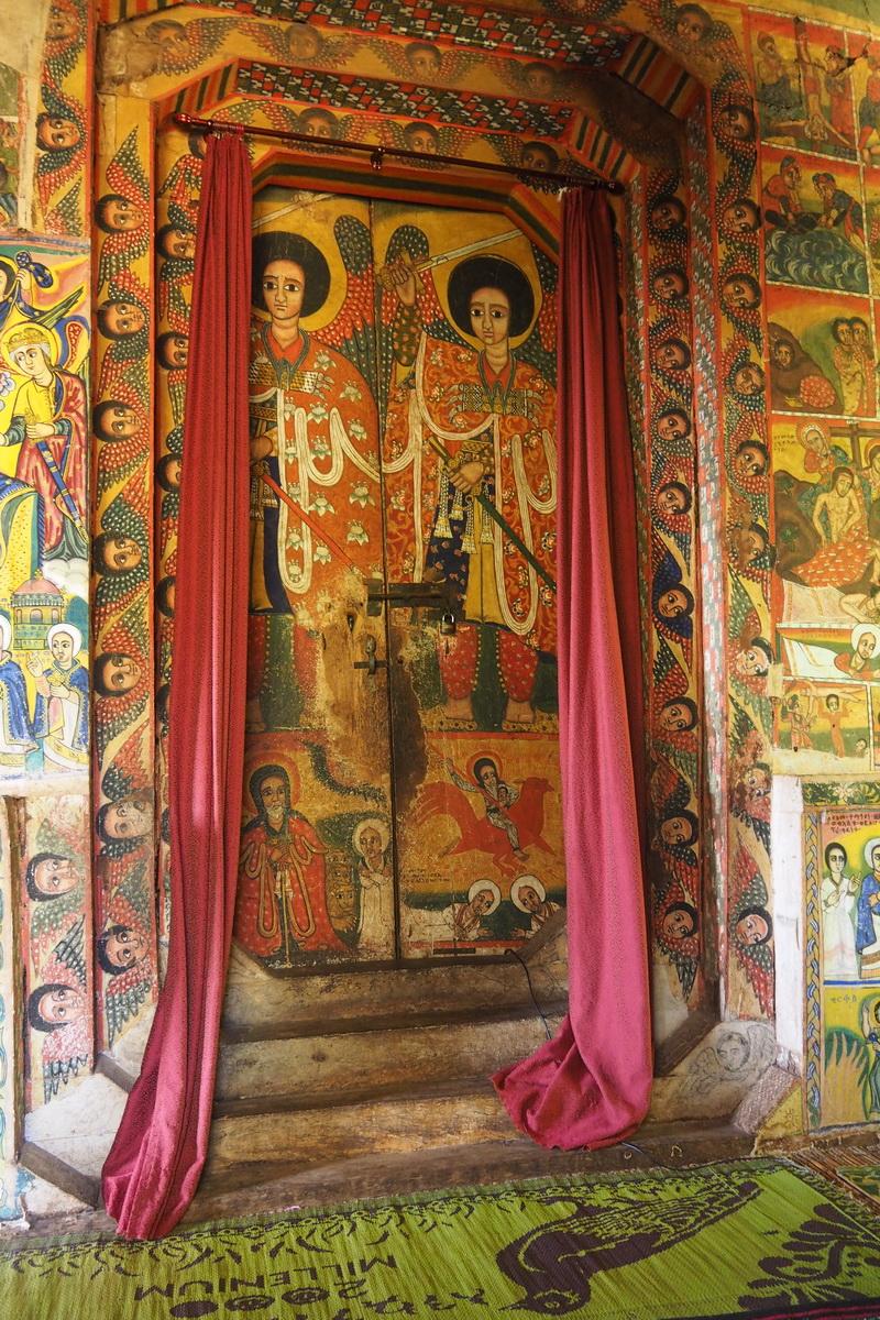 Fresque, Eglise Ura Kidane Meret